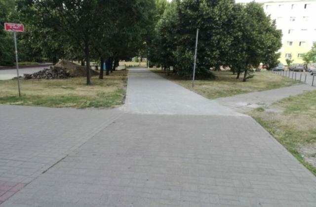 Bydgoski Budżet Obywatelski - wyremontowany odzcinek chodnika Okrzei - Morcinka