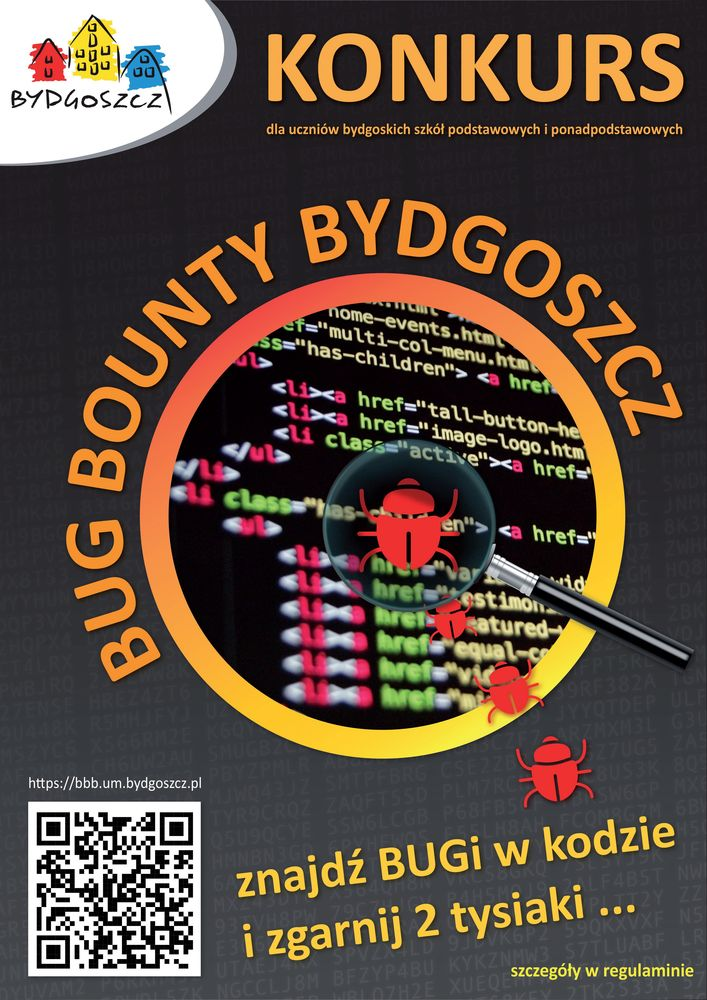 Ulotka Bug Bounty Bydgoszcz