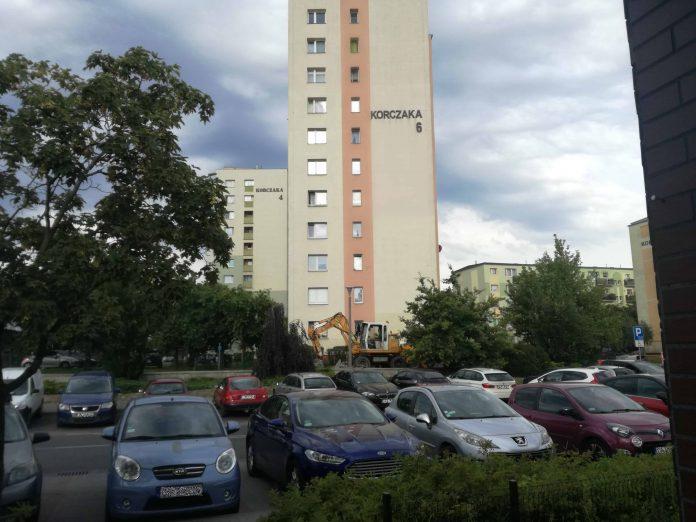 Chodnik przy ul. Korczaka